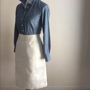 Loft pencil skirt | cream animal print | Sz 14